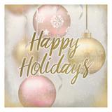 Happy Holidays Ornaments Print