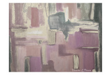 Abstract Soft Pink Art
