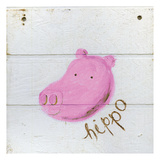 Happy Pink Hippo Prints