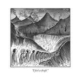 """I feel a draft."" - New Yorker Cartoon Premium Giclee Print by Harry Bliss"