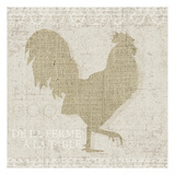 Burlap Farm Animals 2 Posters