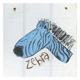 Happy Blue Zebra Posters