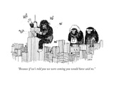 """Because if we's told you we were coming you would have said no."" - New Yorker Cartoon Premium Giclee Print by Edward Steed"
