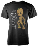 Guardians Of The Galaxy- I Am Junior Groot Scribbles Skjorter