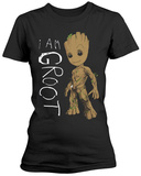 Guardians Of The Galaxy- I Am Junior Groot Scribbles T-paita