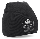 Beanie: The Nightmare Before Christmas- Jack Movie Logo Lue