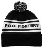 Beanie: Foo Fighters- White Strip Logo Beanie