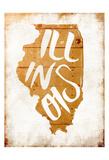 Wood Illinois Print