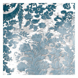Blue Silver Floral Stamp Posters