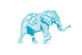 Blue Mandala Elephant Art