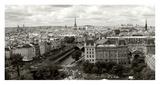 Paris Panorama Giclee Print by Vadim Ratsenskiy
