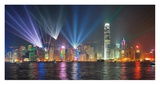 Symphony of lights, Hong Kong Giclee Print by  Anonymous