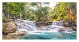 Kuang Si Falls, Luang Prabang, Laos Giclee Print by  Pangea Images