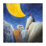 Sotto una grande luna gialla Giclee Print by Donato Larotonda