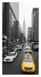 Taxi in Manhattan, NYC Giclee Print by Vadim Ratsenskiy