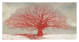 Red Tree Giclee Print by Alessio Aprile