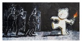 Stokes Croft Road, Bristol (graffiti attributed to Banksy) Giclee Print by  Anonymous