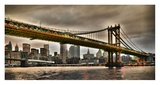 Manhattan Bridge and New York City Skyline, NYC Giclee Print by Vadim Ratsenskiy