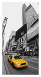 Taxi in Times Square, NYC Giclee Print by Vadim Ratsenskiy