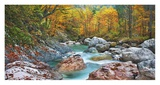 Mountain brook and rocks, Carinthia, Austria Giclee Print by Frank Krahmer