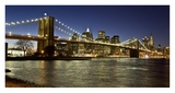 Panoramic view of Lower Manhattan at dusk, NYC Giclee Print by Michel Setboun