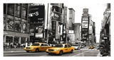 Taxi in Times Square, NYC Giclee Print by  Anonymous