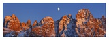 Pale di San Martino and moon, Italy Giclee Print by Frank Krahmer