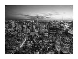 Manhattan Skyline with the Empire State Building, NYC Giclee Print by Michel Setboun