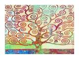 Klimt's Tree 2.0 Giclee Print by Eric Chestier