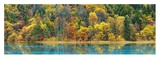 Lake and forest in autumn, China Giclee Print by Frank Krahmer