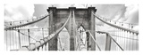Morning on Brooklyn Bridge, NYC Giclee Print by  Anonymous