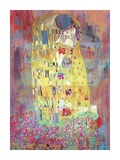 Klimt's Kiss 2.0 Giclee Print by Eric Chestier