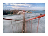 Painter on the Golden Gate Bridge, San Francisco Giclee Print by  Anonymous