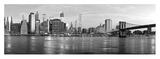 Manhattan and Brooklyn Bridge, NYC Giclee Print by Vadim Ratsenskiy