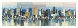 Manhattan Aqua Giclee Print by Luigi Florio