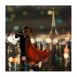Midnight in Paris Giclee Print by Dianne Loumer