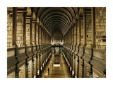 Interior of the Library, Trinity College, Dublin Giclee Print by  Anonymous