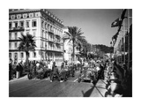 Depart du Grand Prix automobile de Nice 1934 Giclee Print by Charles Delius