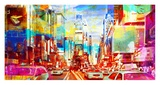 Times Square 2.0 Giclee Print by Eric Chestier