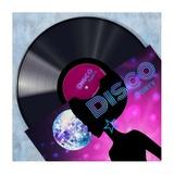 Vinyl Club, Disco Giclee Print by Steven Hill