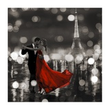 Midnight in Paris (BW) Impressão giclée por Dianne Loumer