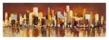 Manhattan al tramonto Giclee Print by Luigi Florio