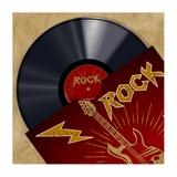 Vinyl Club, Rock Giclee Print by Steven Hill