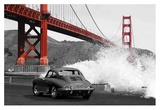 Under the Golden Gate Bridge, San Francisco (BW) Giclee Print by  Gasoline Images