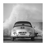 Ocean Waves Breaking on Vintage Beauties (BW detail 2) Giclee Print by  Gasoline Images