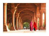 Women in traditional dress, India Giclee Print by  Pangea Images