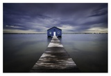 The Blue Boatshed Giclee Print by Leah Kennedy