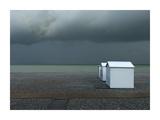 Beachhouses Reproduction procédé giclée par Elisabeth Wehrmann