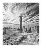 Super Skyline Giclee Print by Koji Tajima