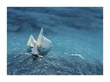 Croisement Bleu Giclee Print by Marc Pelissier